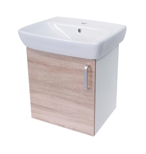 Kúpeľňová skrinka s umývadlom Naturel Vario Dekor 50x42 cm dub bardolino VARIO50BIDB