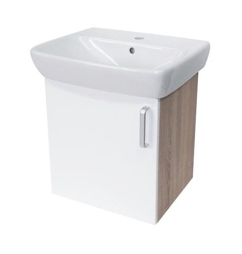Kúpeľňová skrinka s umývadlom Naturel Vario Dekor 50x42 cm biela VARIO50DBBL