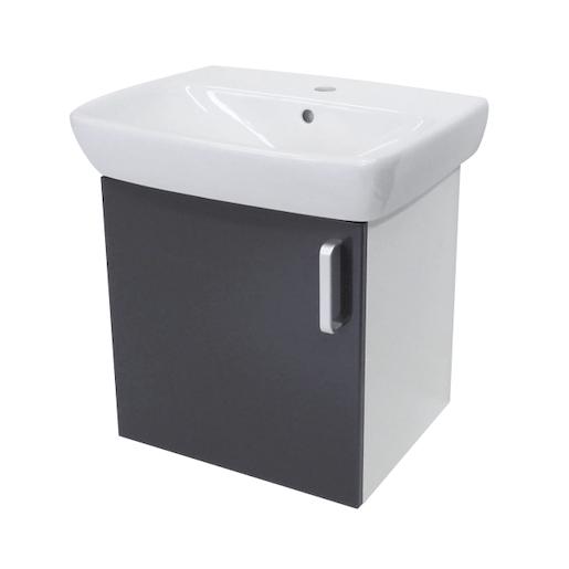 Kúpeľňová skrinka s umývadlom Naturel Vario Dekor 55x44 cm grafit VARIO55BIGL