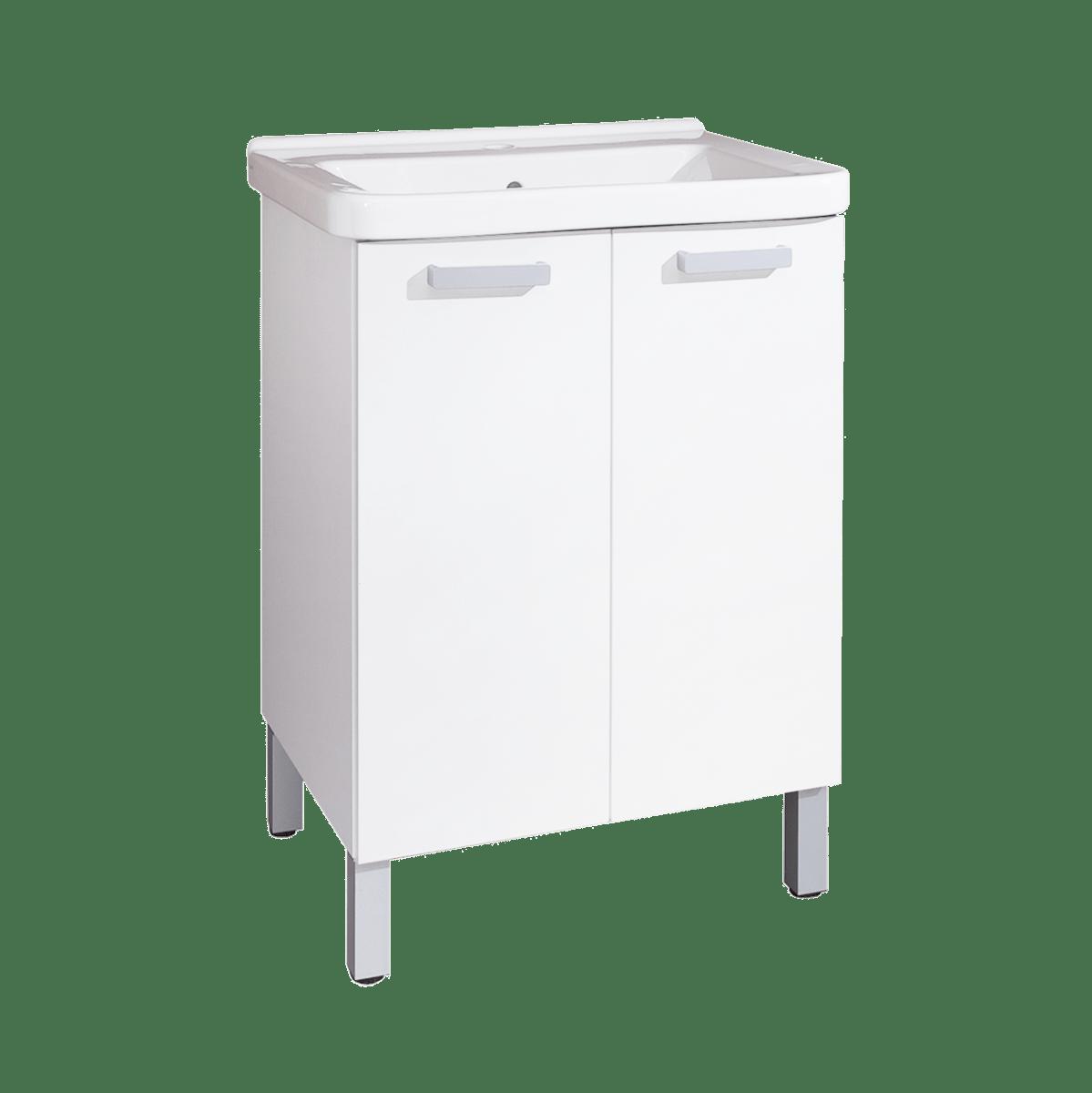 Kúpeľňová skrinka s umývadlom Naturel Vario 65x48,5 cm biela VARIO65BIBL