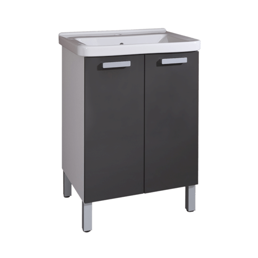 Kúpeľňová skrinka s umývadlom Naturel Vario 65x48,5 cm grafit VARIO65BIGL