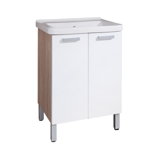 Kúpeľňová skrinka s umývadlom Naturel Vario 65x48,5 cm biela VARIO65DBBI