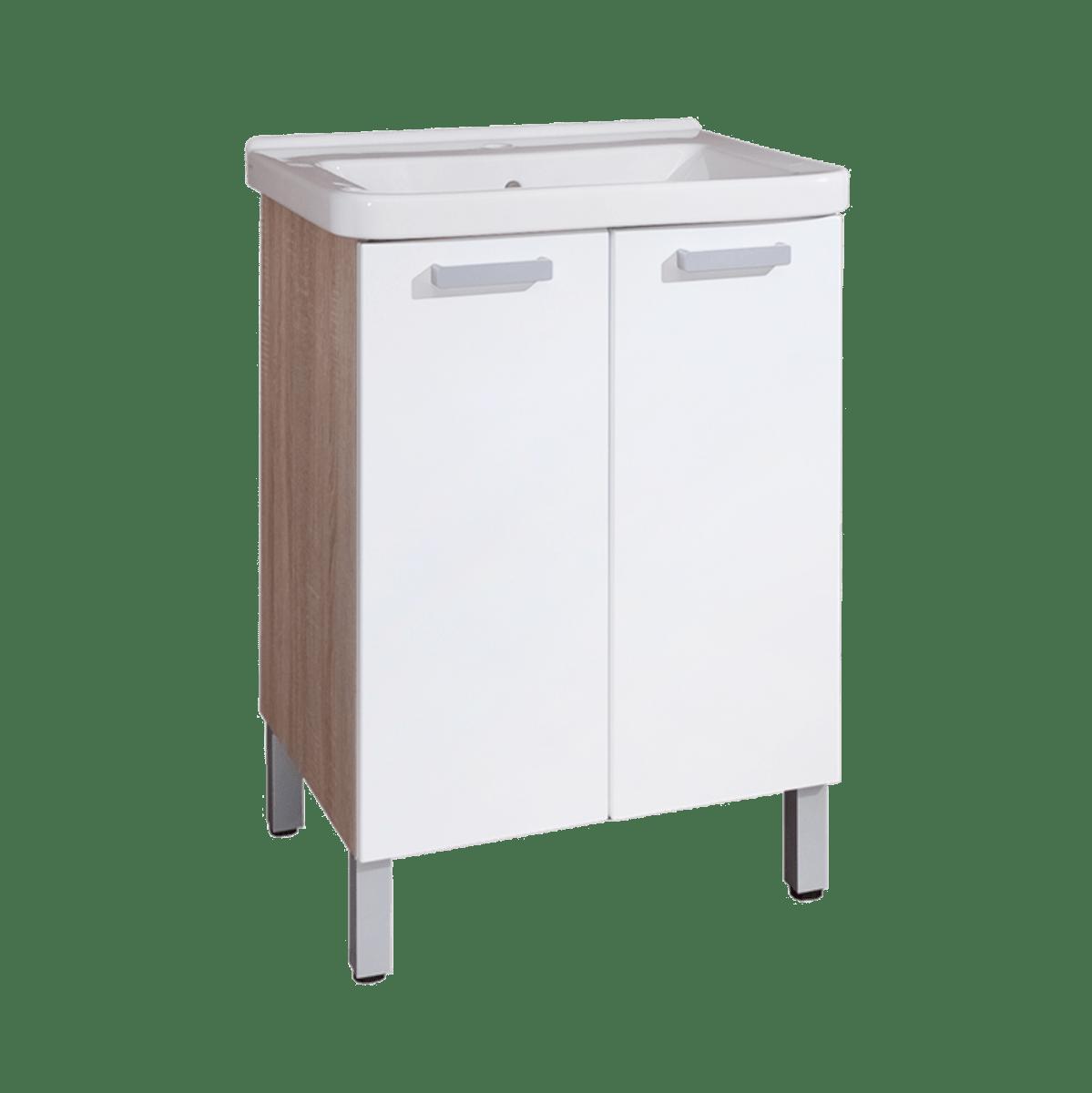 Kúpeľňová skrinka s umývadlom Naturel Vario 65x48,5 cm biela VARIO65DBBL