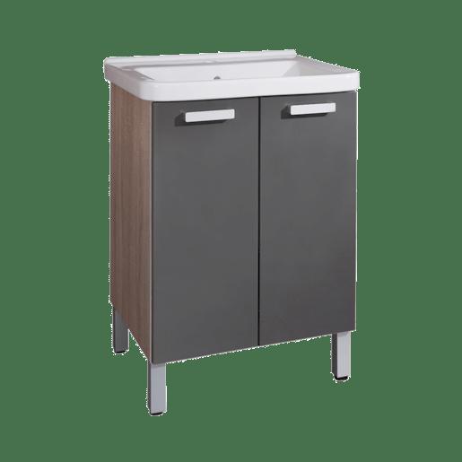 Kúpeľňová skrinka s umývadlom Naturel Vario 65x48,5 cm grafit VARIO65DBGL
