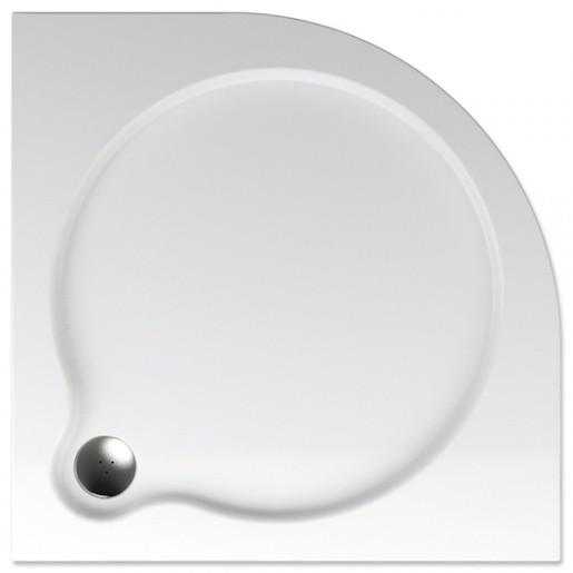Sprchová vanička štvrťkruhová Teiko Vesta 80x80 cm akrylát V131080N32T06001