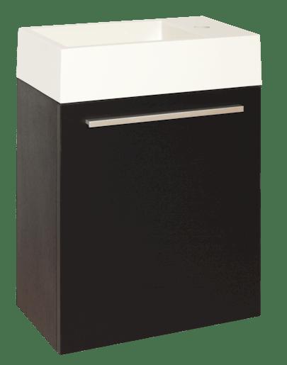 Kúpeľňová skrinka s umývadlom Naturel Verona 46x26 cm čierna VERONA46DV