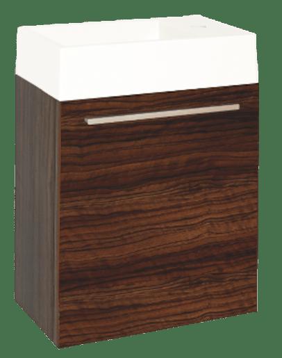 Kúpeľňová skrinka s umývadlom Naturel Verona 46x26 cm orech VERONA46GW