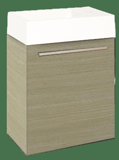 Kúpeľňová skrinka s umývadlom Naturel Verona 46x26 cm svetlý dub VERONA46LO