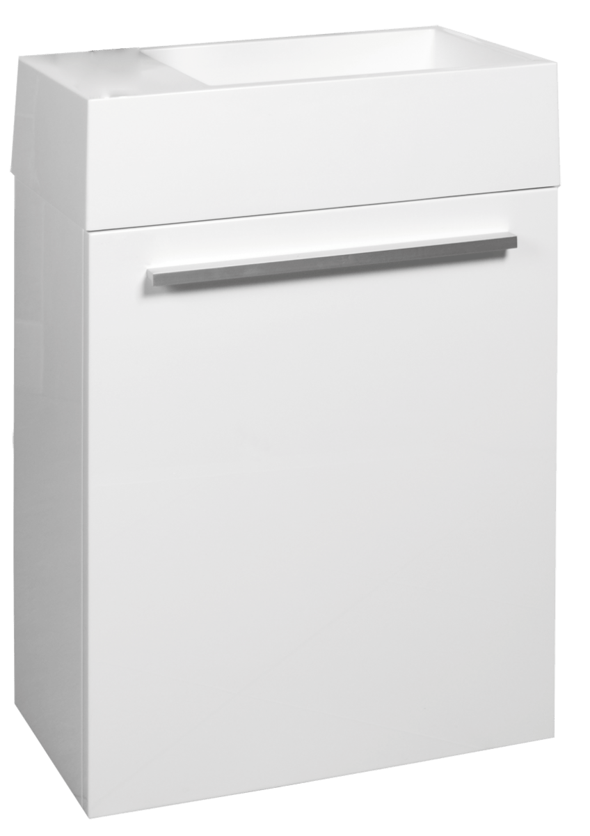 Kúpeľňová skrinka s umývadlom Naturel Verona 46x26 cm biela VERONA46WH