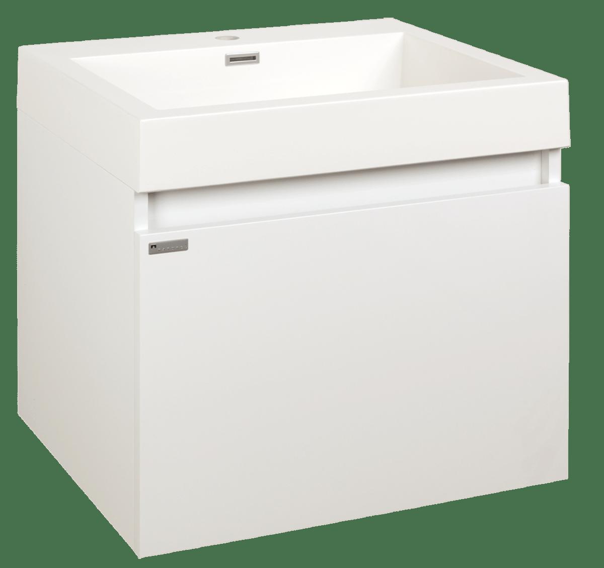 Kúpeľňová skrinka s umývadlom Naturel Verona 60x48 cm biela VERONA60WH