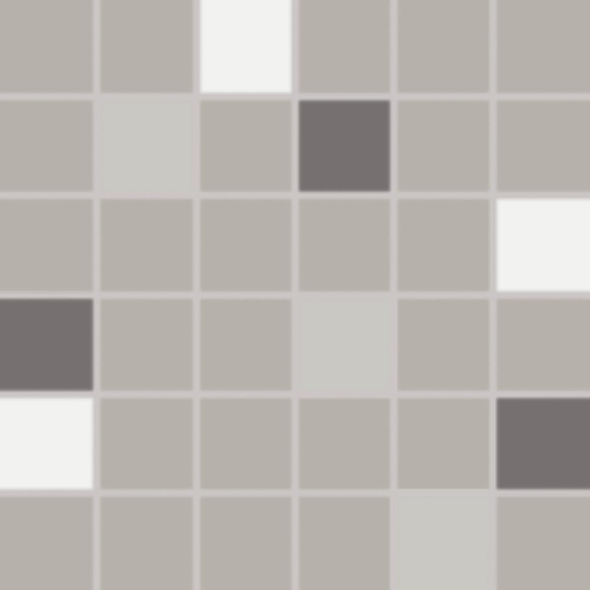 Mozaika Rako Concept Plus šedá 30x30 cm lesk WDM05010.1