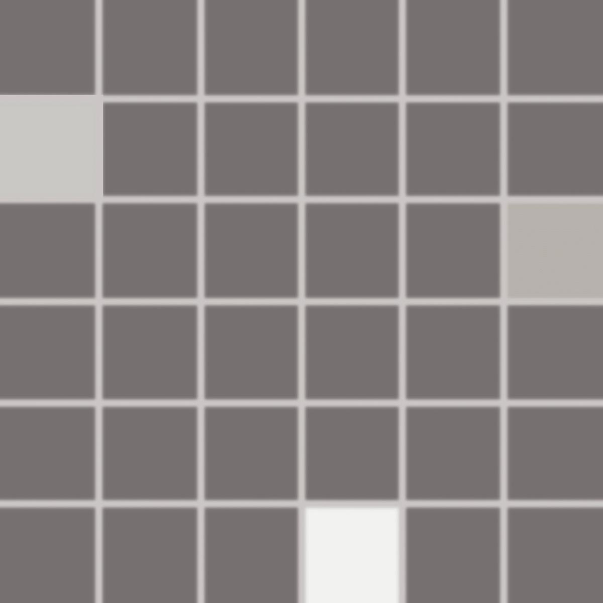 Mozaika Rako Concept Plus tmavo šedá 30x30 cm lesk WDM05011.1