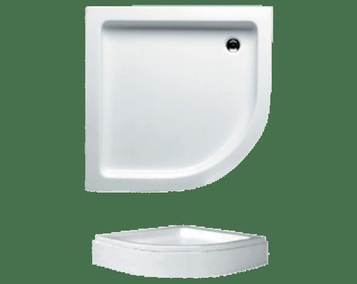 Sprchová vanička štvrťkruhová Riho 210 90x90 cm akrylát DA1900500000000