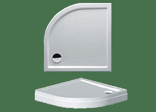 Sprchová vanička štvrťkruhová Riho Davos 90x90 cm akrylát DA8900500000000