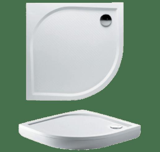 Sprchová vanička štvrťkruhová Riho Kolping 80x80 cm liaty mramor DB1000500000000