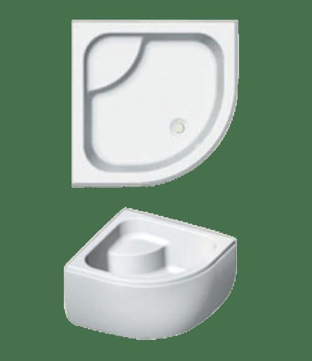 Sprchová vanička štvrťkruhová Riho 343 90x90 cm akrylát DB4300500000000