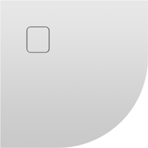 Sprchová vanička štvrťkruhová Riho Basel 90x90 cm akrylát DC980050000000S