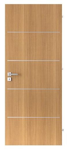 Interiérové dvere Naturel Ibiza alu pravé 60 cm dub IBIZAALUDP60P
