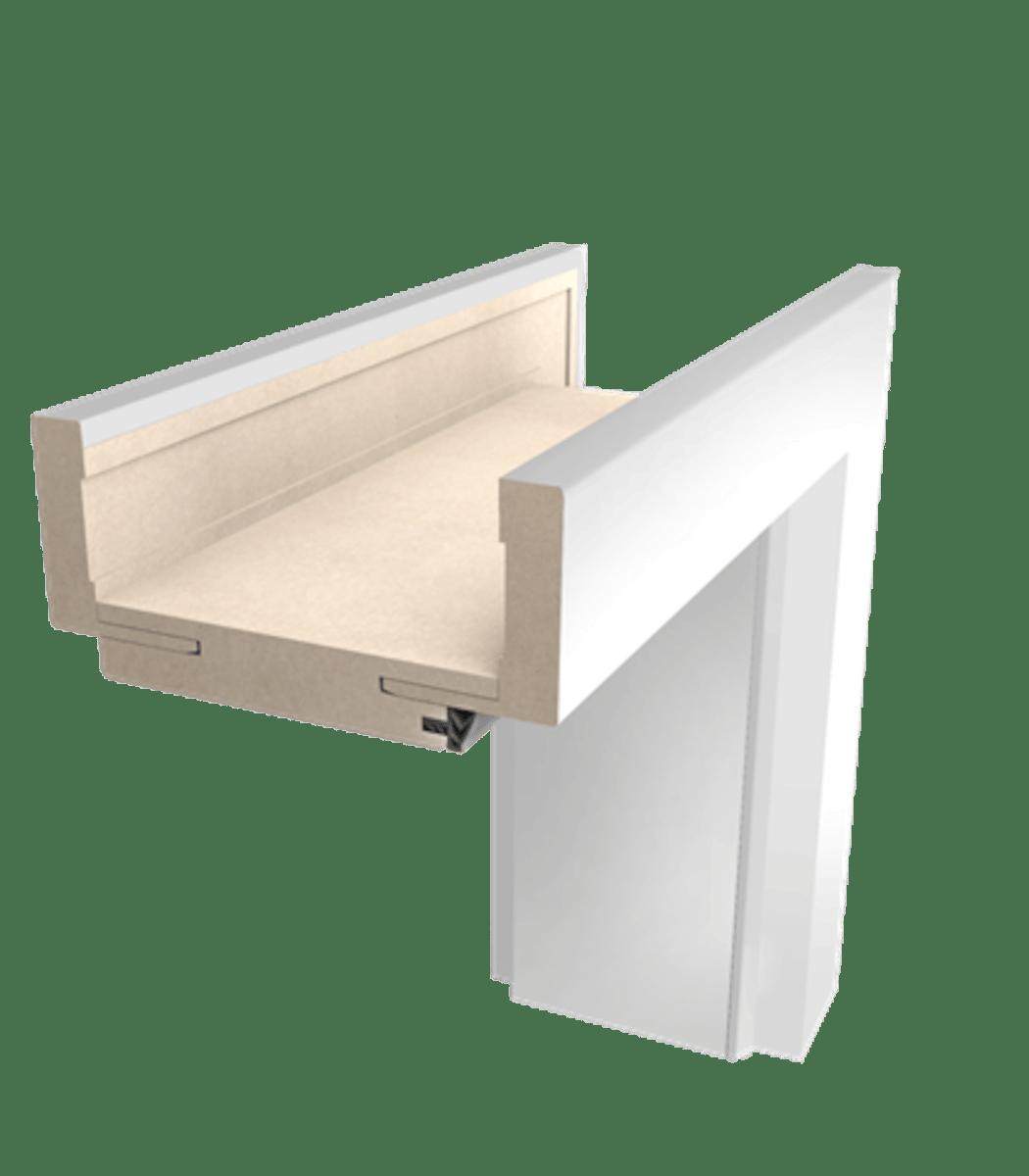 Obložková zárubňa Naturel 60 cm pre hrúbku steny 10-14 cm biela ľavá O2BF60L